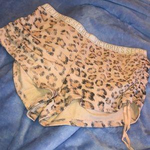 Leopard print sleep shorts